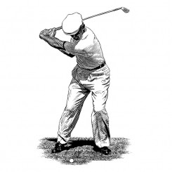 Ben Hogan – Back Swing – Scratchboard
