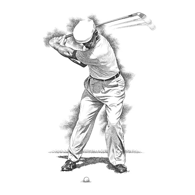 Golf Illustration Golf illustration